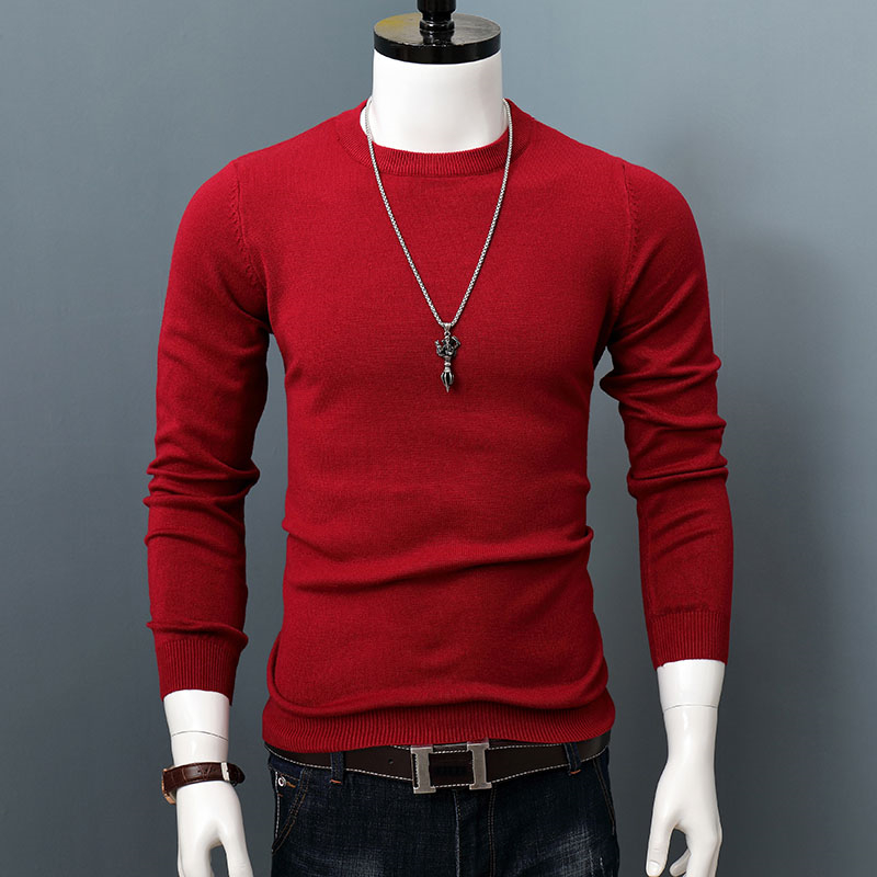 ARCSINX Slim Fit Sweater Men Fashion Fitness Wool Pull Homme High Quality Long Sleeve Men Pullover Winter Hombre Knitwear 3XL
