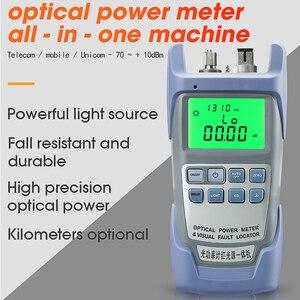 Image 2 - AUA 9A All IN ONE optik güç ölçer görsel hata bulucu fiber optik test cihazı 5KM 10km 20KM 30km VFL 1/10/20/30MW