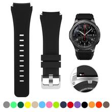 Huawei watch gt 2 Strap For Samsung galaxy watch 46mm active Gear S3 Frontier amazfit bip gtr 47mm bracelet 20mm 22mm watch band cheap RMUTANE 22cm Watchbands Silicone New with tags for 22mm 20mm metal buckle black red whtie pink red more For Samsung Gear S3 Frontier Classic