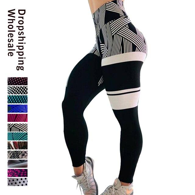 สไตล์ฤดูร้อนแฟชั่นผู้หญิงร้อนHot Leggingsดิจิตอล3Dพิมพ์ฟิตเนสเซ็กซี่Leggins PlusขนาดPush UpกางเกงDrop Shipping