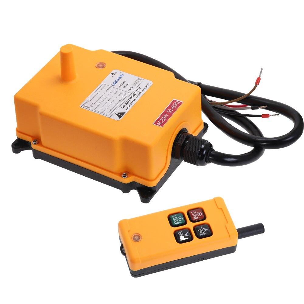 Système de télécommande Radio de grue sans fil industrielle HS-4 1 émetteur 4 canaux 1 palan de contrôle de vitesse OBOHOS commutateur à distance
