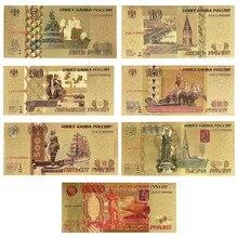 Billetes falsos de Ruble para hombre, billetes de oro, utillaje, Euro, billetes de banco, regalos, envío directo, venta al por mayor, Rusia