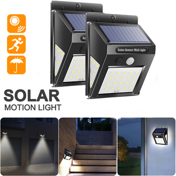 цена на 2PCS Waterproof 30 LED Solar Light Outdoor Solar Lamp PIR Motion Sensor Wall Light Solar Powered Sunlight for Garden Pathway