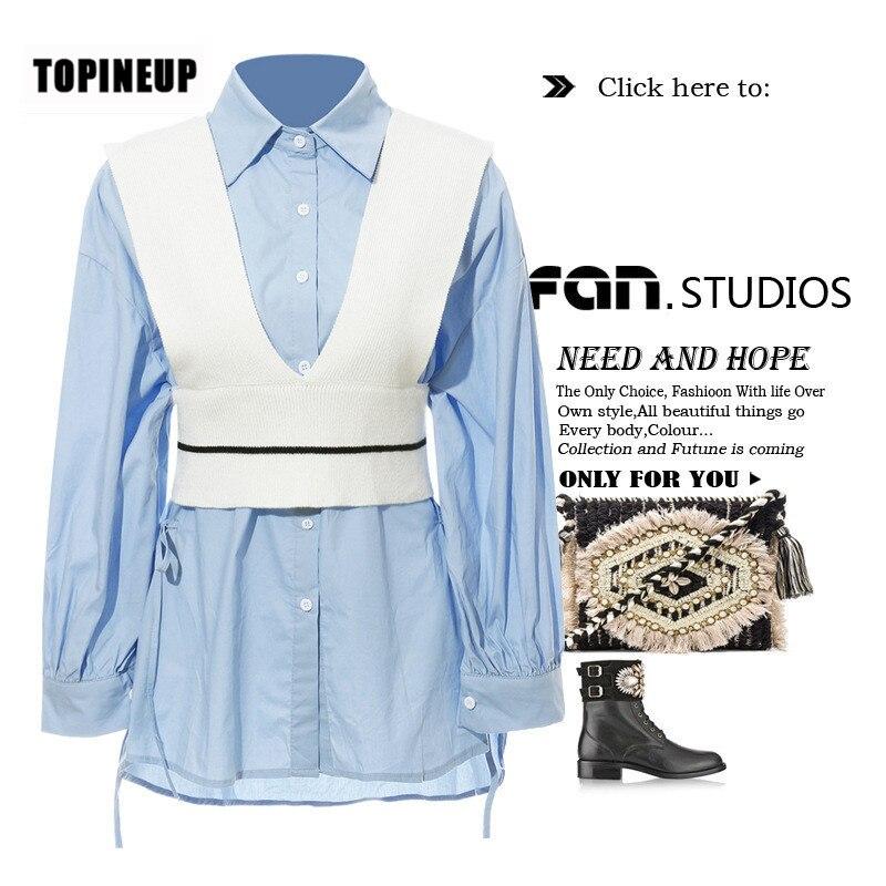 Conception européenne de mode femmes décontracté rayure imprimer dames blouses et chemises de grande taille de taille mince