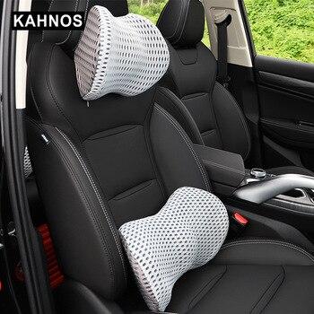 Almohadas de cuello de coche ambos lados reposacabezas de cuero de Pu se adapta a la mayoría de autos rellenos de fibra para Auto oficina en casa