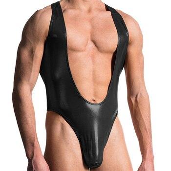 Männliche Unterwäsche Erotische Latex Leder Fetisch 1