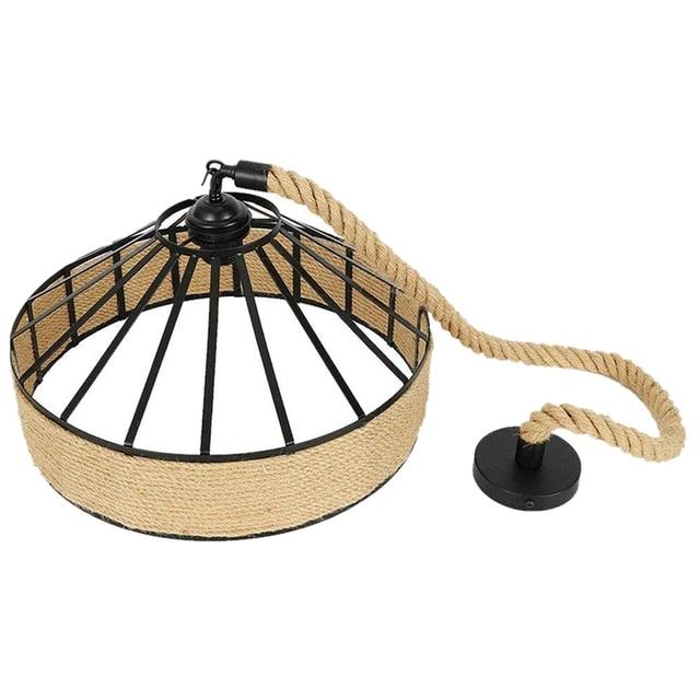 E27 Hennep Touw Opknoping Lamp Vintage 3