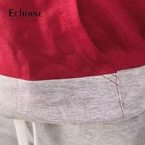 Image 5 - איכות פס אימונית נשים שתי חתיכה מועדון תלבושות סט 2019 ארוך שרוול סלעית סקסי סווטשירט עם כיס מכנסיים 2 חתיכה סט