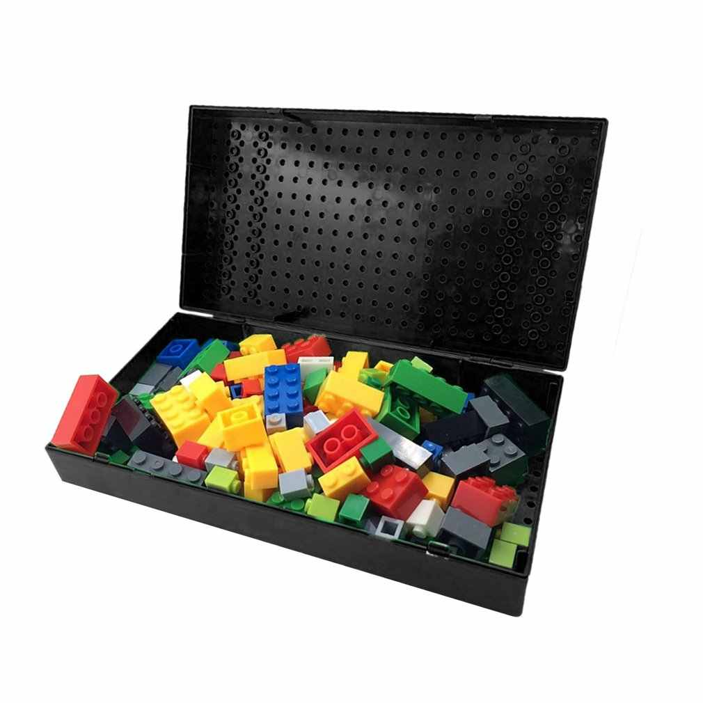 Portable Creative Building Blocks Storage Box Brick DIY Toys Desktop Storage Boxes Educational Toy Storage Case for Kids Gift
