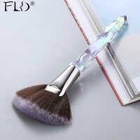 FLD Kristall Make-Up Pinsel Set Powder Foundation Fan Pinsel Lidschatten Augenbraue Berufs Blush Make-Up Pinsel Werkzeuge