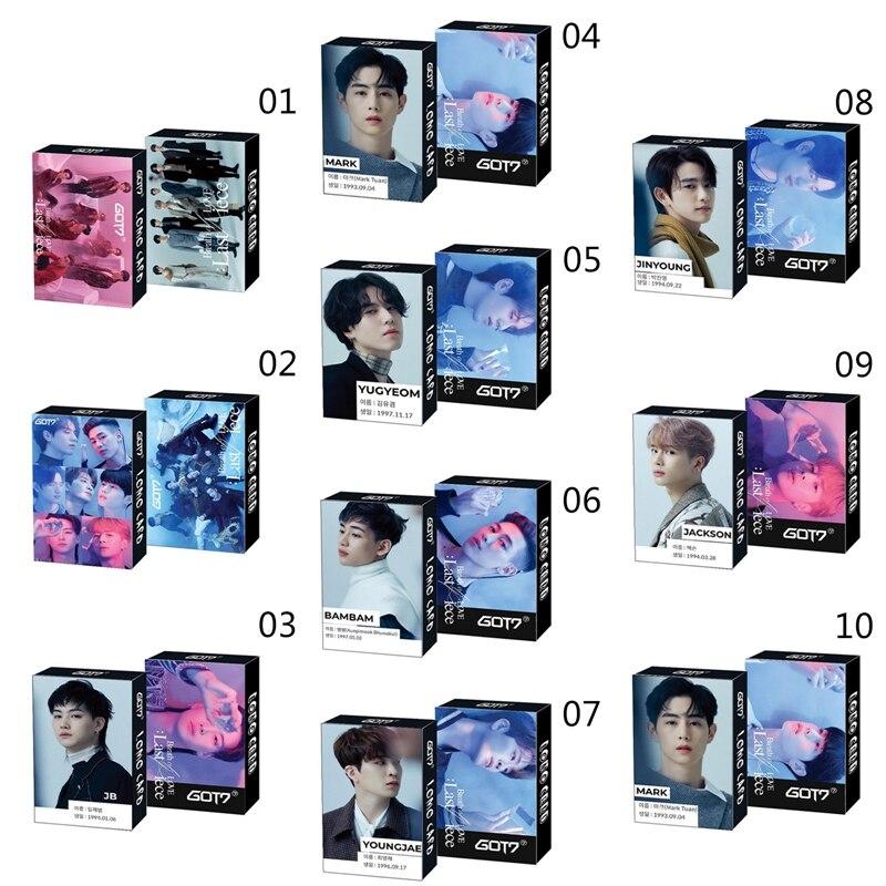 30 шт./компл. Kpop GOT7 новый альбом последняя часть Lomo карта HD печать фото карта для поклонников подарок