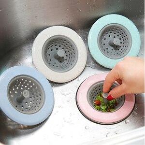 Image 1 - Filtro de silicone para pia e chuveiro, 2 peças, filtro de silicone para drenagem de esgoto, 4 cores opcional