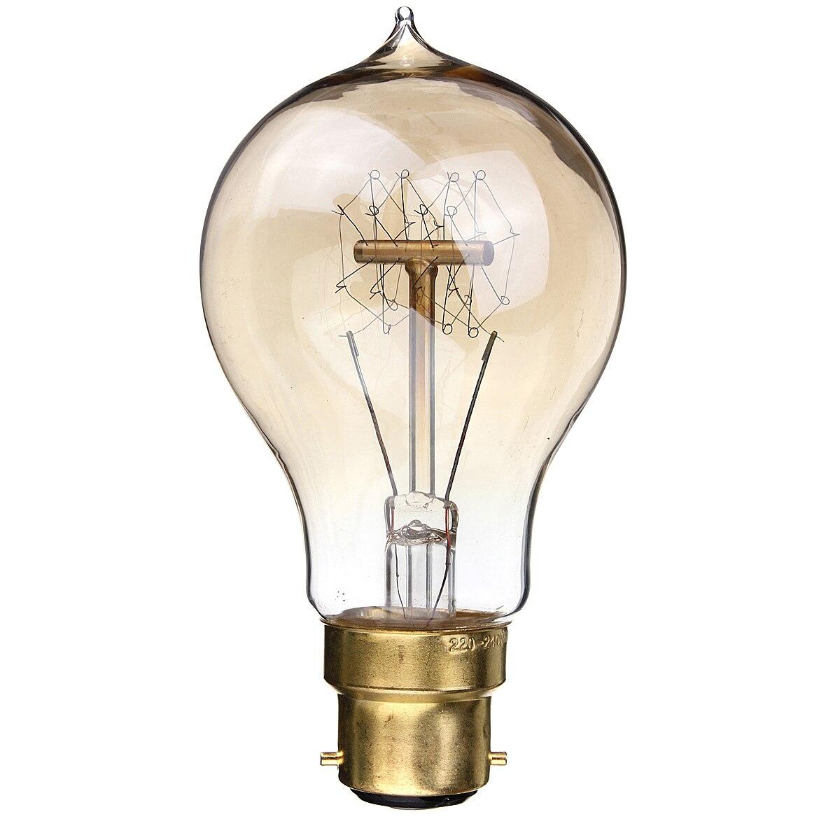 B22 220V Incandescent Bulb 40W A19 23 Anchors Edison Filament Light Bulb