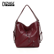 DIZHIGE Brand Luxury Multi-pocket PU Women Handbag High Quality Crossbody Bag For Vintage Large Capacity Multifunction