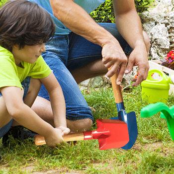 3 sztuk zestaw Mini ogród prowizji mała łopata typu domu kwiatowy łopata drewniane narzędzia ogrodnicze słodkie dzieci ręczne narzędzie ogrodnicze zestaw tanie i dobre opinie 7-12y 4-6y 12 + y CN (pochodzenie) Metal Do rozwijania umiejętności chwytania poruszania się Unisex