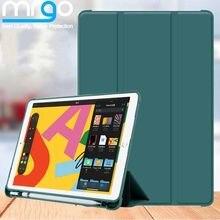 Чехол для iPad Air 2, чехол 10,2 Air 3 1 Mini 4 5 2019 с держателем для карандашей, силиконовый чехол для iPad 7-го поколения, чехол Pro 11 6-го 8-го 2020