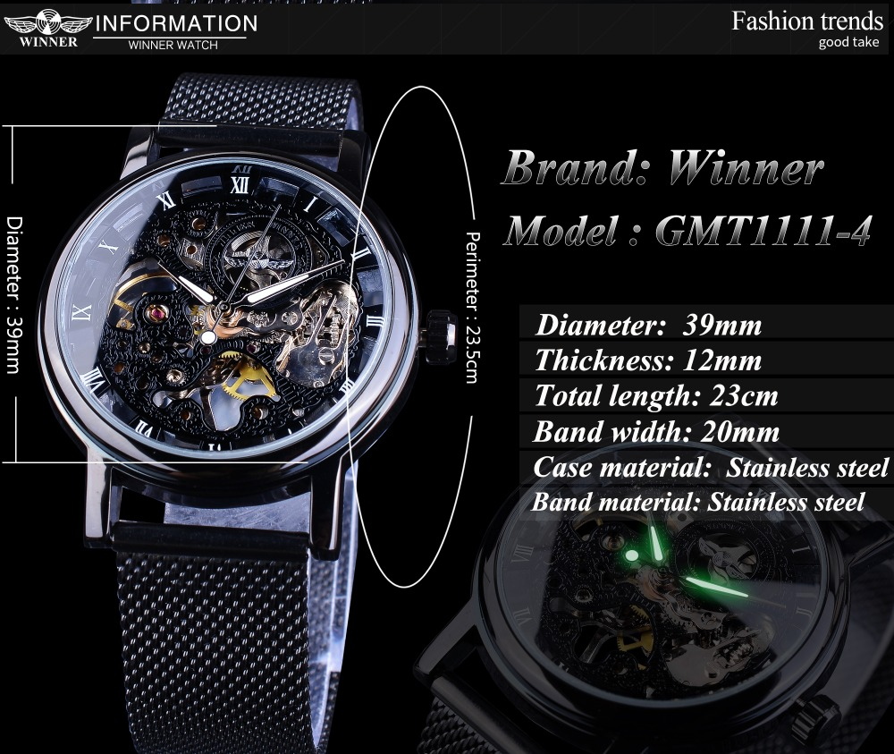 Hd3ea4dc14e8a450ea20979e663f65249X Winner Stainless Steel Mesh Band Transparent Classic Thin Case Hollow Skeleton Mens Male Mechanical Wrist Watch Top Brand Luxury