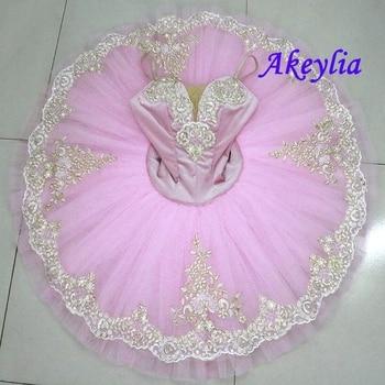 Fairy Princess Professional Tutu Pink Women Ballet Pancake Costume Platter pancake Bellrina Pink Tutu child the big pancake