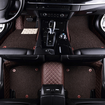 High Quality Double Layer Custom Car Floor Mats for Isuzu All Models D-MAX Mu-X Auto Accessories Styling Waterproof Car Foot Mat
