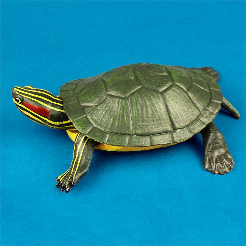 Foreign Trade Model Brazil Red Eared Turtle Solid Wild Oceans Animal Biological Model CHILDREN'S Toy Collection Decoration