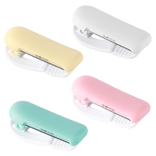 4 Newest Candy Color Masking Tape Cutter Mini Portable Sized Dispenser For 25mm Paper Washi Tapes School Supply Journal Tools