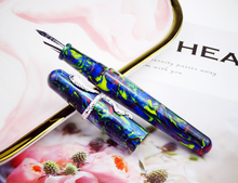 NEW ARRIVAL Fuliwen 017 Resin Acrylic Fountain Pen Big Size Ink with Unique Silver Snake Ring Medium Nib Luxury Gift
