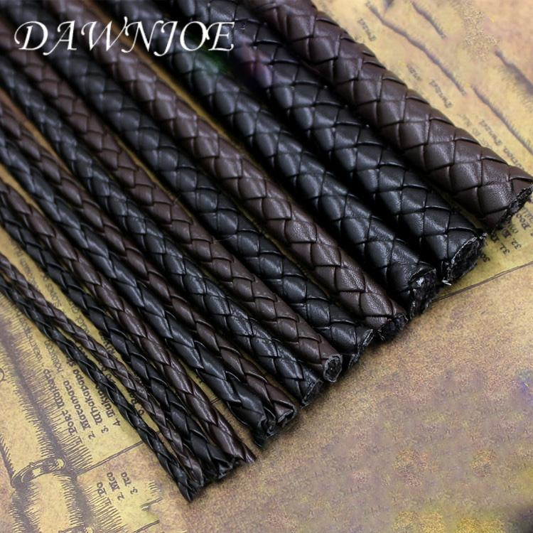 5 Meter PU Leather Rope 3/4/5/6 mm Black&coffee Round Leather Rope DIY Making Bracelet Necklace Jewelry Accessories
