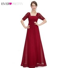 Элегантные платья для матери невесты Ever Pretty EP08038 A-Line с коротким рукавом Farsali шифоновые вечерние платья Vestidos De Madrina