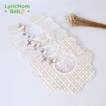 LyricHom Baby Newborn Feeding Baby Bib Cartoon Infant Saliva Towel Bibs for Children Soft and Easy to Roll Baby Bibs Muslin(China)