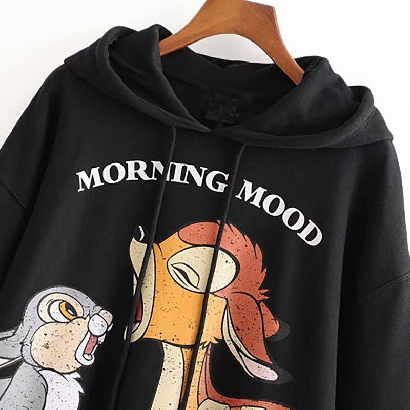 Cartoon Hippo Womens Long Sleeve Pullover Hooded Sweatshirt Top Hoodie with Fleece Lining