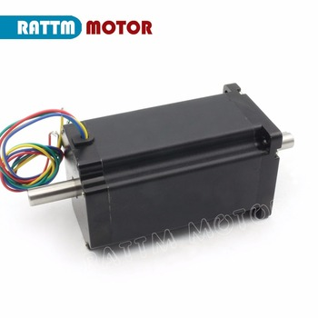 34HS5802B NEMA34 stepper motor Dual shaft 154mm 1600Oz-in 12N.m 5A for Large CNC Router Milling Engraving Machine