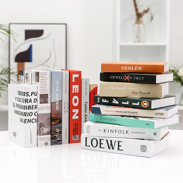 Modern Simple Home Decorative Book Simulation Book Decor For Club Hotel Model Room Study Soft Fake Book Model 3