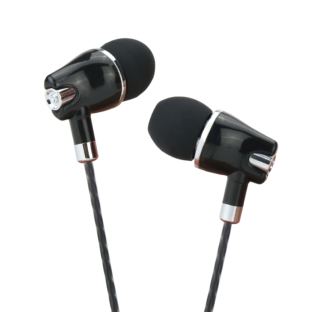 High Quality Stereo In Ear Earphone Crystal Line Wired Earbuds With Mic White Gold AUX Interface Music Headset For Mobile phone in Phone Earphones Headphones from Consumer Electronics