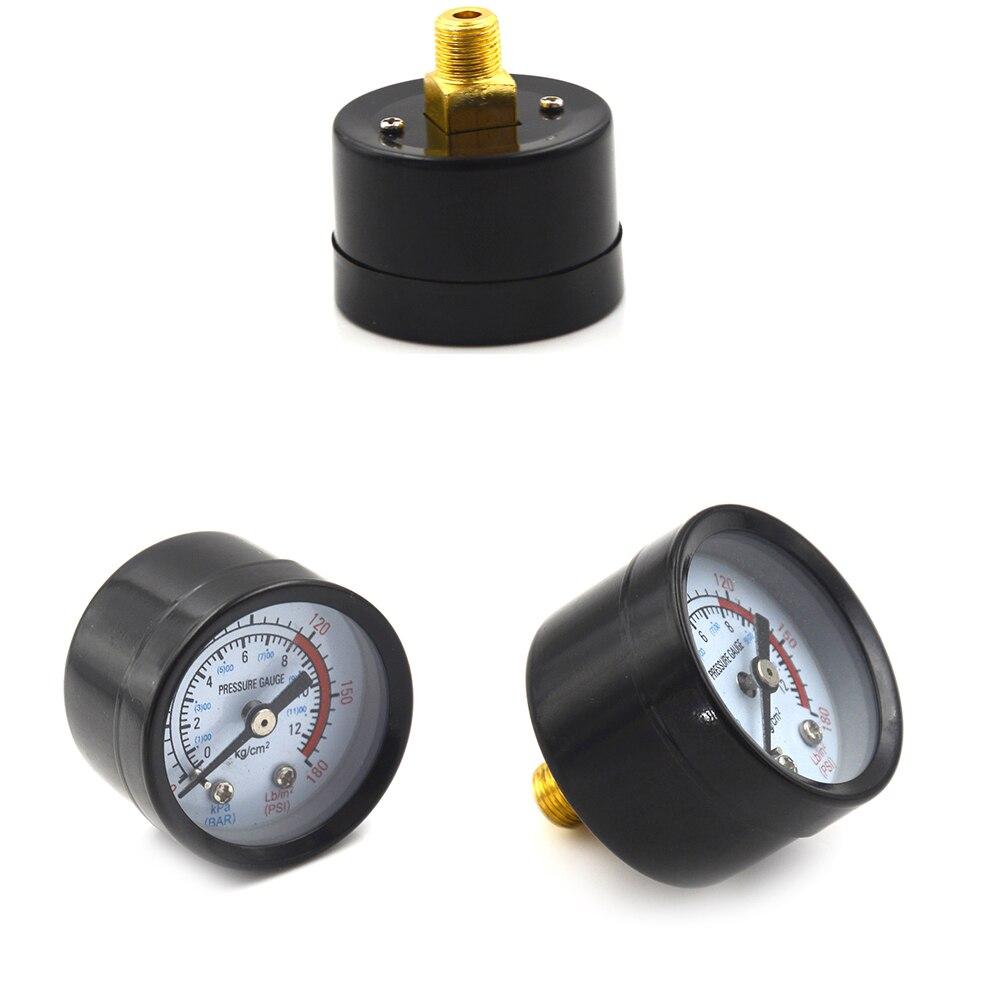 Барный манометр 10 мм 1/4 BSP резьба 0 180 PSI 0 12 Манометр двойная шкала для воздушного компрессора железа Манометры      АлиЭкспресс
