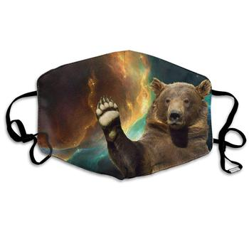 Unisex Print Mouth Mask - Cute Static Bear Pattern Polyester Anti-dust Mouth-Muffle - Fashion Washed Reusable Face Masks for unisex print mouth mask abstract light bulb head polyester anti dust mouth muffle fashion washed reusable face masks for