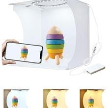 Складной мини-бокс с кольцесветильник ением, портативный софтбокс для фотостудии, световой короб для студийной съемки, комплект с 6 фонами