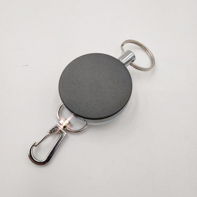 Resilience Steel Wire Rope Elastic Keychain Sporty Retractable Alarm Key chain Anti-lost telescopic  4