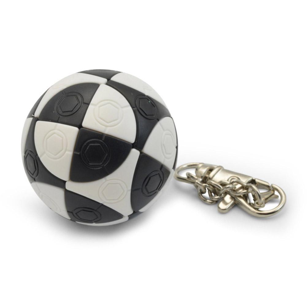 Kuulee Mini Football Shape KeyChain Magic Cube Educational Toy Kids Stress Reliver Prop