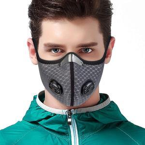 В наличии Пыленепроницаемая маска для велоспорта с активированным углем, мужские и женские противозагрязняющие маски для тренировок на ве...