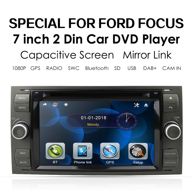 รถDVD GPSสำหรับFord Mondeo S Max Focus C MAX Galaxy Fiesta Transit Fusionเชื่อมต่อKugaเครื่องเล่นDVDเครื่องเล่นมัลติมีเดียกล้อง