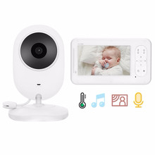 цена на 4.3 inch 2 Way Talk High Color Resolution Wireless Video Baby Monitor Baby Nanny Security Camera VOX Mode Temperature Monitoring