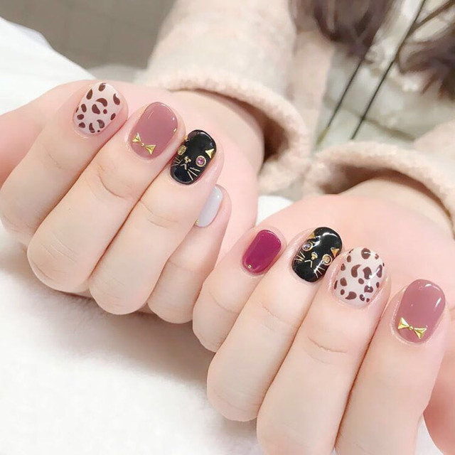10/20pcs Mixed Designs Full Cover Nail Art Stickers Christmas French Glitter Self-adhesive Decals Slider Wraps Decor Manicure 4