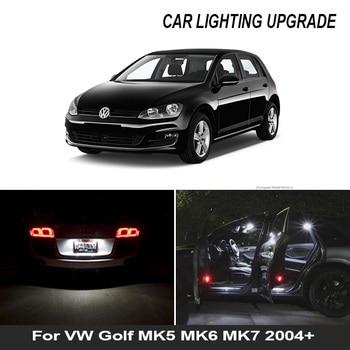 Bombilla LED de coche 13x para VW Golf MK5 MK6 MK7 2004 + Canbus Auto juego de luz Interior Led para Volkswagen Golf 5 6 7 2004 + luz domo de mapa