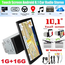 Newest Car Radio 10 inch 2 Din Car Radio bluetooth Wifi Car Player 180° Rotation Navigation All in One Machine Android 8.1 16G