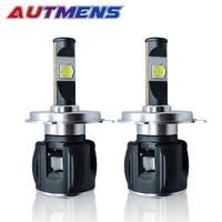 AUTMENS 2PCS X70 60W 6800LM Canbus Dviring XHP 70 H4 H7 H8 H11 9005 9006 9012 LED Headlight