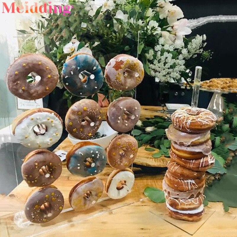 Acrylic Donut Wall Stand Wedding Party Decoration Doughnut Display Holder Birthday Party Supplies Donut Party Decor Baby Shower Party DIY Decorations    - AliExpress