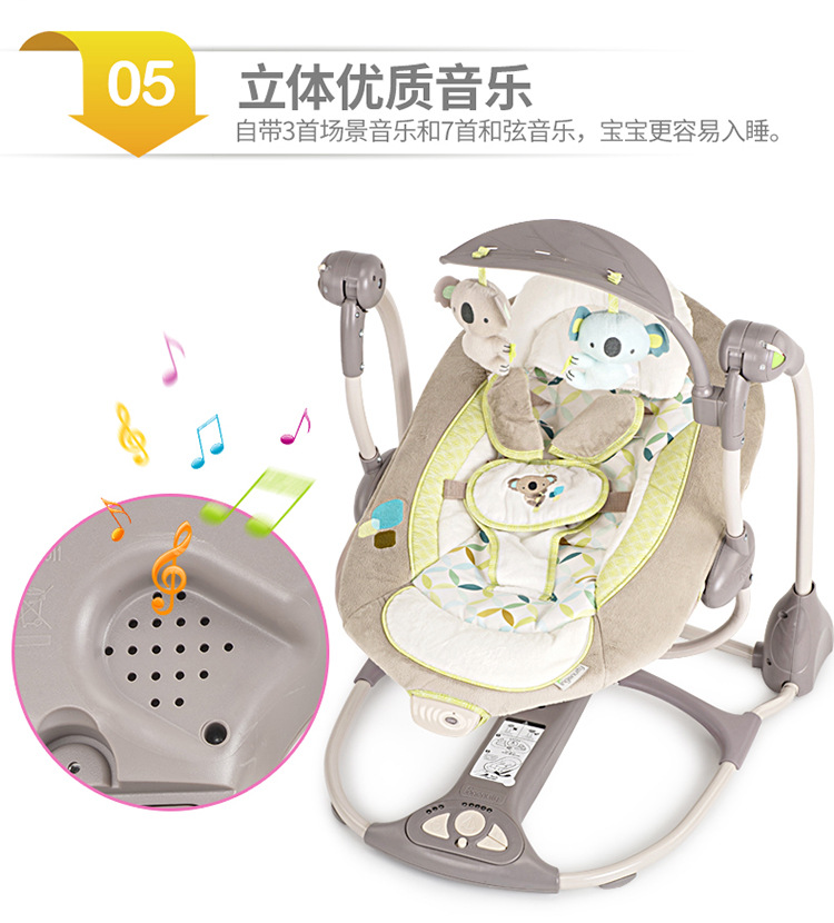 Hd3ec4ee9e20e4afd94a1a89434428fddr Newborn Gift Multi-function Music Electric Swing Chair Infant Baby Rocking Chair Comfort Cradle Folding Baby Rocker Swing 0-3Y