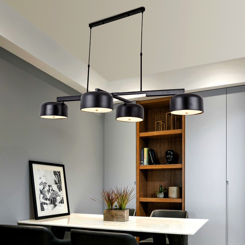 Post modern LED chandelier lighting Iron rotatory hanging lamp Nordic dining living room luminaires bedroom home deco fixtures in Chandeliers from Lights Lighting