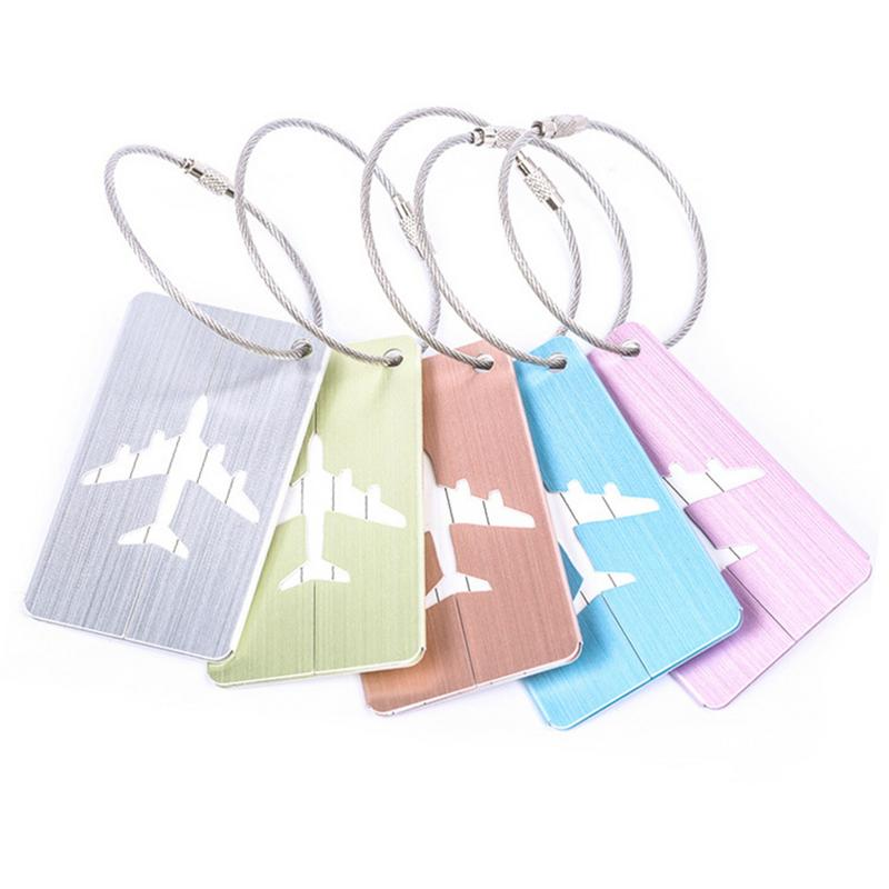 Outdoor Aluminum Alloy Drawing Luggage Tag For Travel Accessories Luggage Bag Baggage Bagage Tag Label Tags Travelling Suitcase