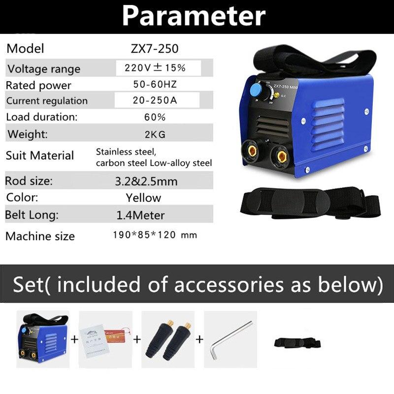 1 PC ARC IGBT Inverter Arc Elektrische Schweißen Maschine 220V 250A MMA Schweißer für Schweiß Arbeits Elektrische Arbeits Power werkzeuge